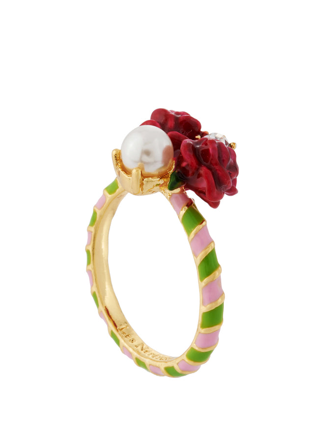 Balad In Versailles Roses and Pearl Ring - Pink Alternate View