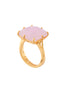 La Diamantine Pink Square Stone Ring - Pink Alternate View
