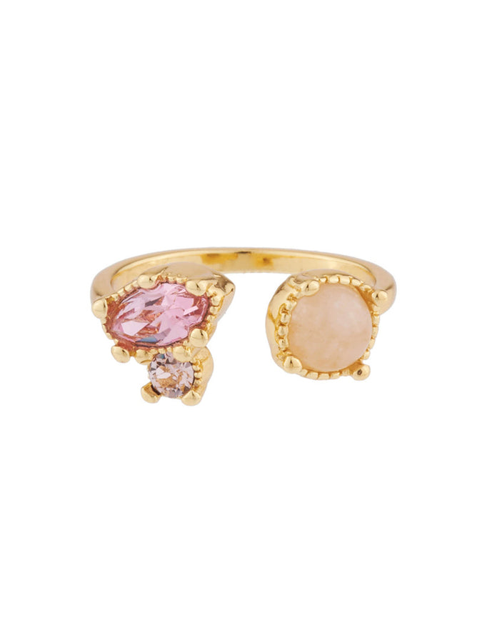 Precious Fancies You and I ring ring with quartz and pink rhinestone