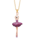 Pas De Deux Plum Blue Ballerina Long Necklace