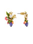 Balad In Versailles Berries Bee on Stone and White Flower Earrings Alternate View