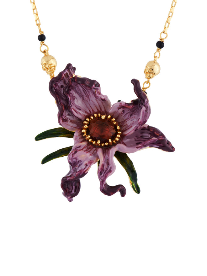 Ostentatious Obscurity Wilted Flower and Pins' Petals Necklace
