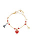 From Paris with Love Heart-Shapped Padlocks and Eiffel Towers Bracelet