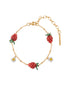 Royal Gardens Strawberries and White Flowers Bracelet