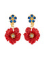 Golden Fields Poppy clip-on earrings