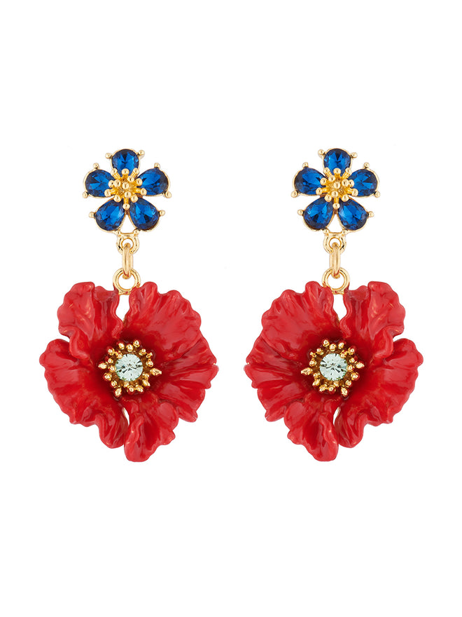 Golden Fields Poppy stud earrings