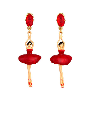 PAS DE DEUX BALLERINA AND STONE STUD EARRINGS