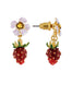 Royal Gardens Strawberry and White Flower Earrings Alternate View