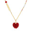 From Paris with Love Heart Paved with Crystal Necklace