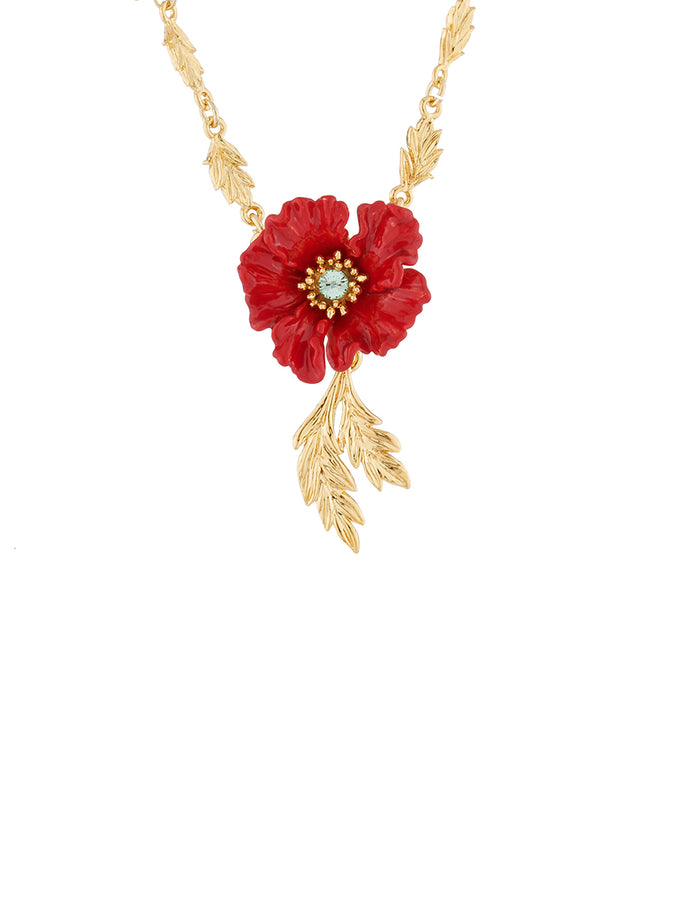 Golden Fields Poppy pendant necklace