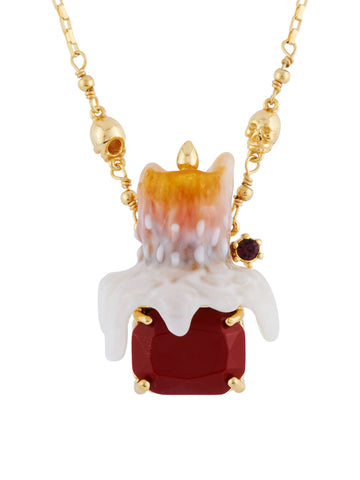 Ostentatious Obscurity Candle on Stone Necklace