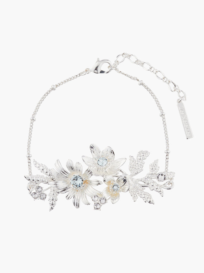 Yes I Do Shinning bouquet with crystals chain bracelet