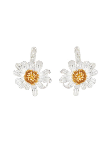 Golden Fields Clip-on daisy earrings