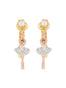 MINI LUXURY PAS DE DEUX MINI BALLERINA WITH SILVER CRYSTALS CLIP-ON EARRINGS