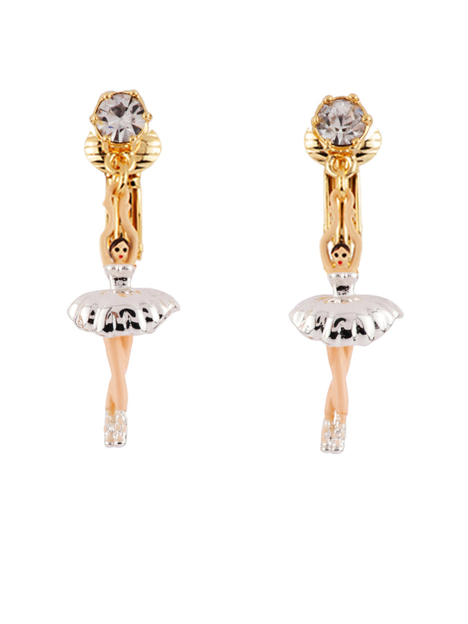 Mini Pas de Deux with Silver Ballerina Clip Earrings