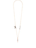 Pas de Deux Multi Silvered Ballerina Long Necklace