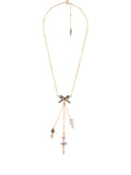 Pas de Deux Multi Silvered Ballerina and Treble Key Necklace