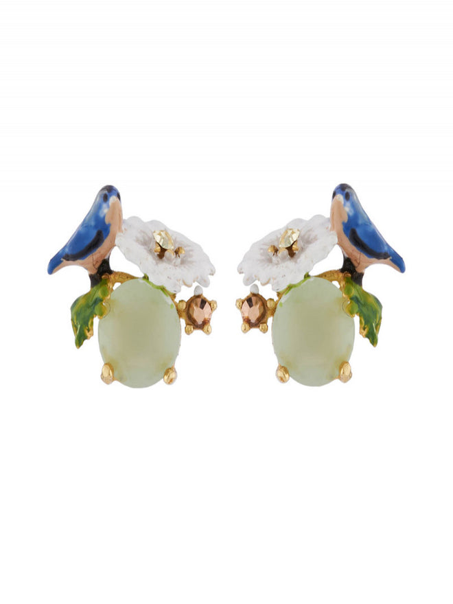 Dazzling Discretion Tit and daisy on faceted glass earrings