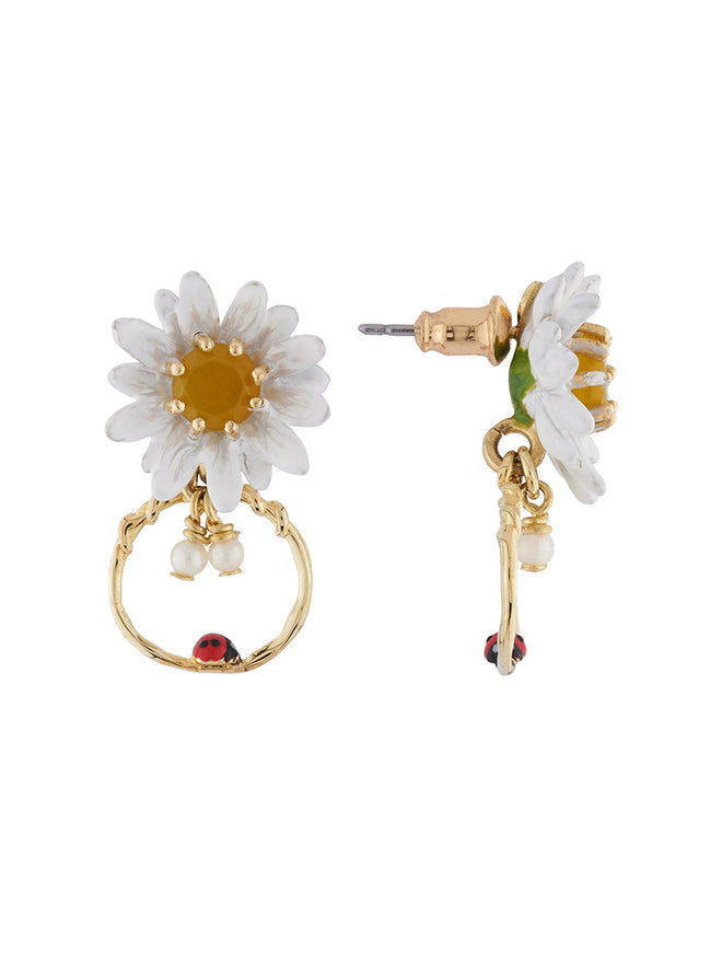 Lovely Daisies Daisy and Ladybird Little Hoop Earrings Alternate View