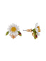 Lovely Daisies Daisy on Faceted Glass Earrings Alternate View