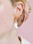 PAS DE DEUX WHITE BALLERINA AND BOW STUD EARRINGS Alternate View