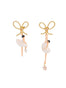 PAS DE DEUX WHITE BALLERINA AND BOW STUD EARRINGS
