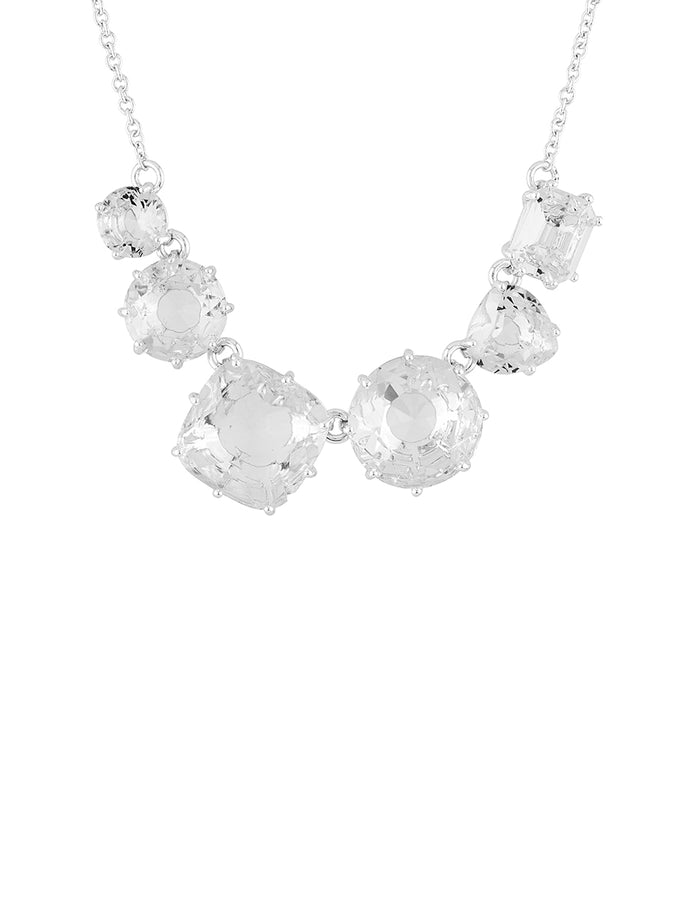 La Diamantine 6 Silver Crystal Stones Necklace