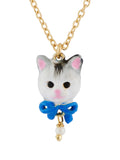 Les Nereides Loves Animals White Cat's Face Necklace