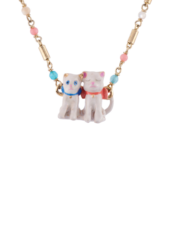 Little Cats Duo Short Necklace