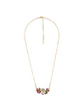 Lovely Daisies Daisy on Flowered Branch and Faceted Glass Necklace