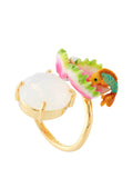 Exoplanet Carnivorous Plant and Stone Adjustable Ring