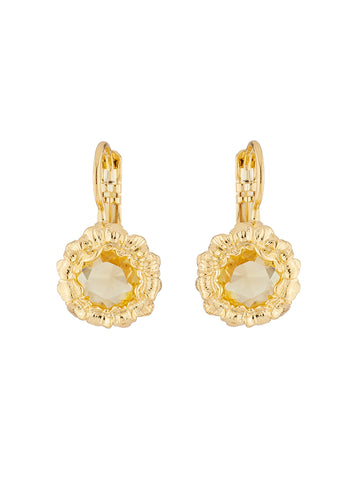 Golden Fields Sunflower dormeuses earrings