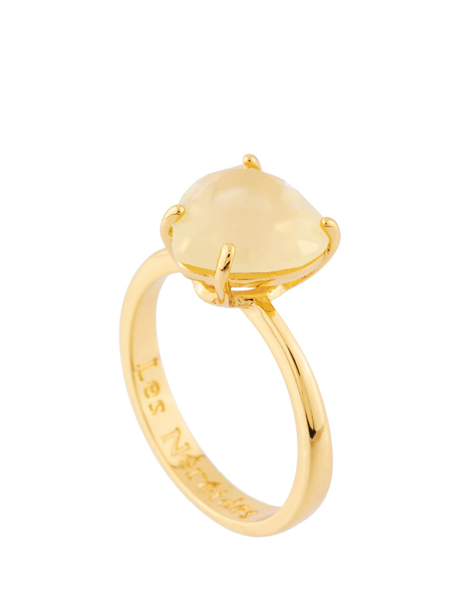 La Diamantine Citrine Yellow Heart-Shaped Stone Ring - Yellow Alternate View