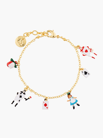 Alice's Dream Alice and the Card Soldiers Charms Bracelet