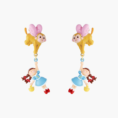 The Wizard Of Oz Dorothy and The Winged Monkey Clip-on Earrings