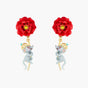 The Wizard Of Oz Poppy Stem and Rat Post Earrings