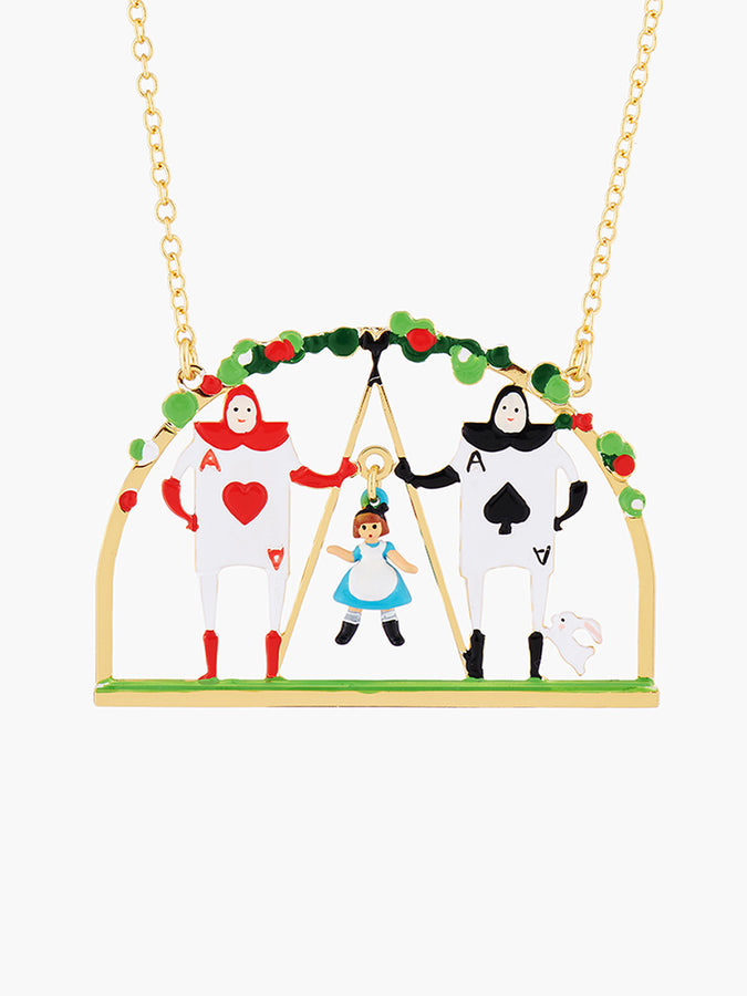Alice's Dream Alice and the Card Soldiers Pendant Necklace
