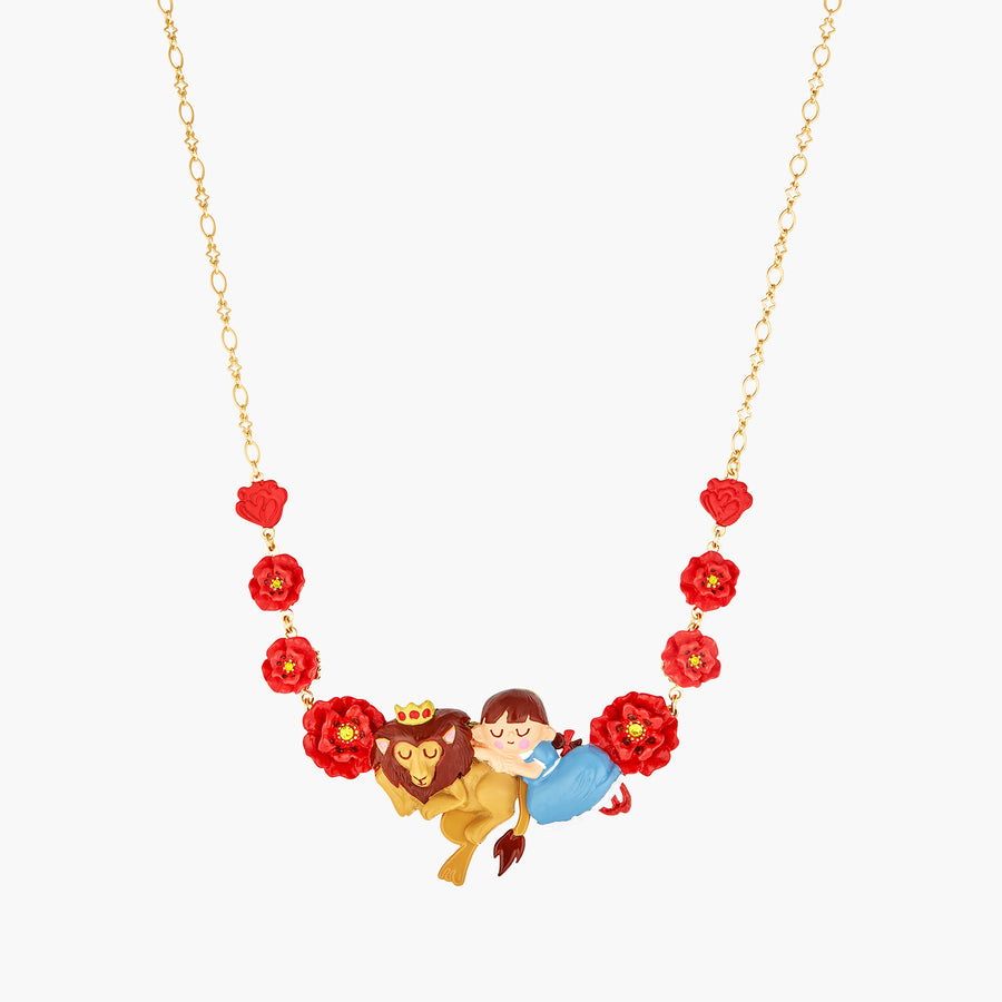 The Wizard Of Oz Dorothy, The Cowardly Lion and Poppy Statement Necklace