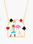 Alice's Dream Alice and Pink Flamingo Pendant Necklace