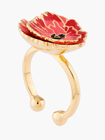 Euphoric Botanic Chocolate Cosmos Adjustable Ring