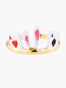 Alice's Dream White Rabit and Aces of Spades and Hearts Adjustable Ring