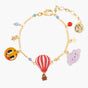 Cloud, Sun and Hot Air Balloon Chain Bracelet