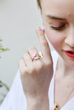 Suzanne the Swan Adjustable Ring