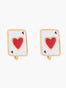 N2 X Roca Balboa Ace Of Heart Clip On Earrings