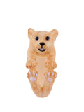 Les Nereides Loves Animals Little Lion Cub Ring - Beige