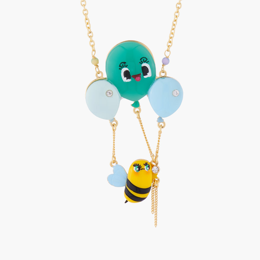 Honeybee and Balloons Pendant Necklace