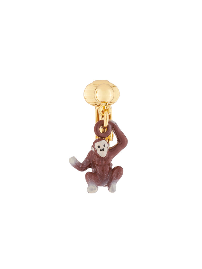 Jingle Jungle Monkey clip-on earring
