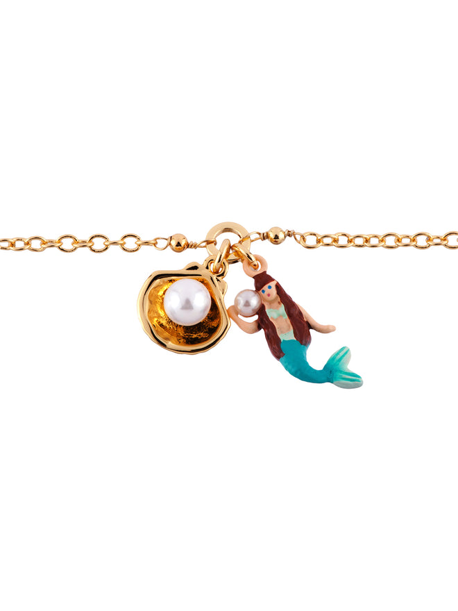 I Am A Mermaid Little Mermaid and Shell Bracelet Alternate View