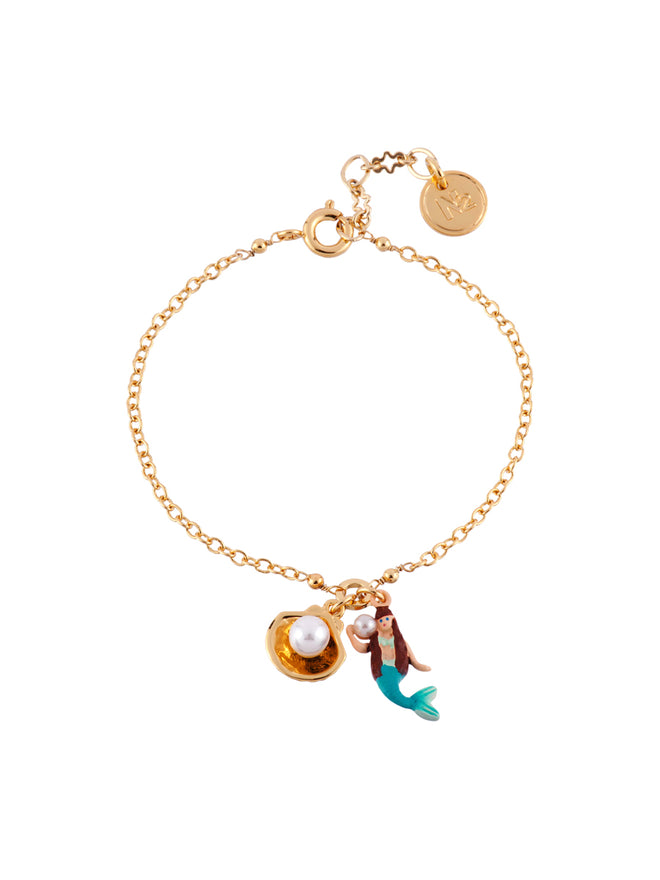 I Am A Mermaid Little Mermaid and Shell Bracelet