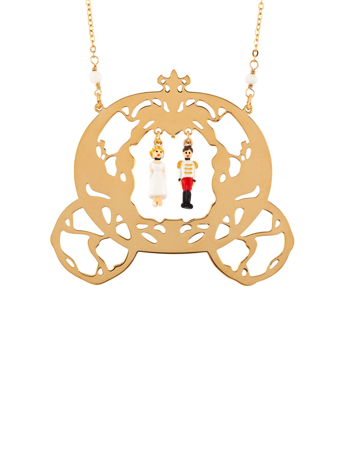 Once Upon A Time Cinderella and The Prince with Carriage Long Necklace
